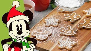 Mickey Mouse Gingerbread Cookies | Disney Family
