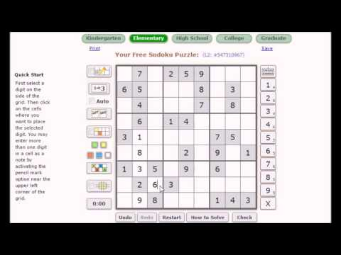 How to Solve Sudoku Puzzle - Easy Hindi - हिन्दी - YouTube