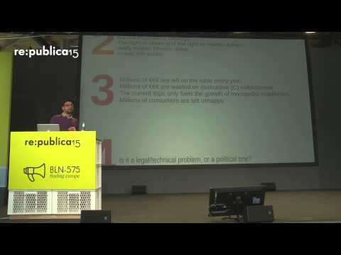 re:publica 2015 - Balázs Bodó: Kulturflatrate – its not just the pirates who want it on YouTube