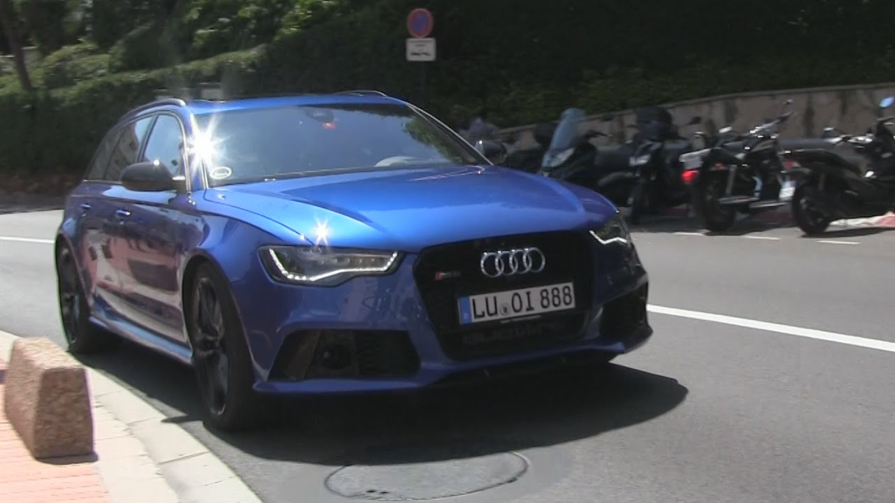 Stunning Sepang Blue Audi Rs6 Driving In Monaco Youtube