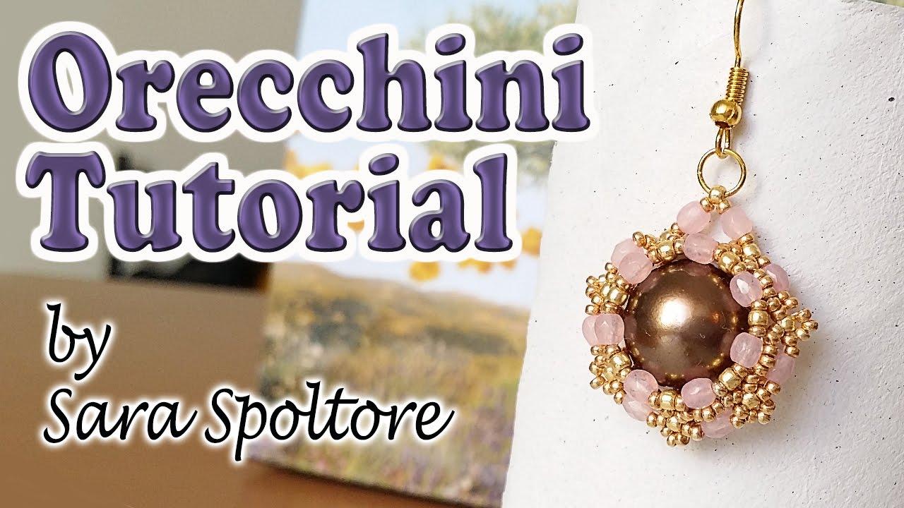 Tutorial orecchini con perline come fare orecchini fai for Orecchini con pietre dure fai da te