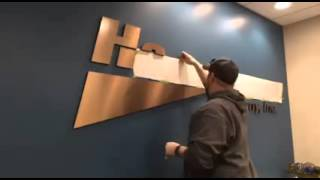 Time Lapse Dimensional Letter Sign Install - Office Sign Company