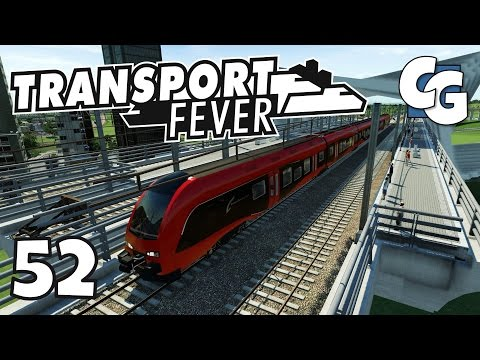 Transport Fever - Ep. 52 - Elevated Line Tour / TGV Line 2.0 - Transport Fever Gameplay