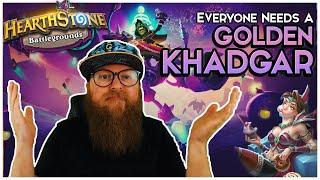 The GOLDEN KHADGAR Dream! What Could Go Wrong? | Hearthstone Battlegrounds | AFK