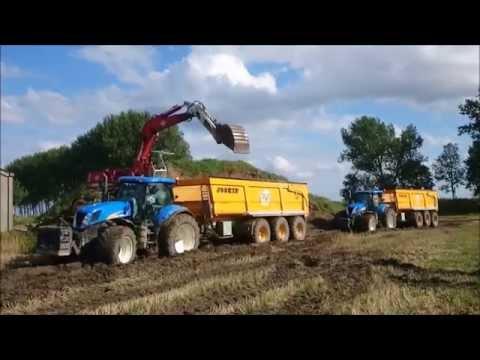 3 New Holland T7050,T7060 tractor,tracteur,trattore JOSKIN moving Ground Hoek,Zeeland