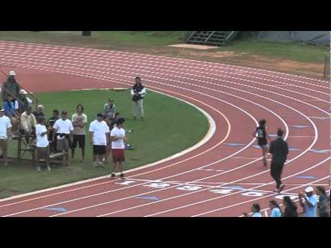 11 Year Old Turns up the Speed in 200 Meter Dash