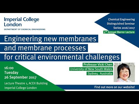 Engineering new membranes and membrane processes for critical environmental challenges