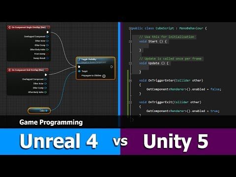 Unity vs Unreal Engine Comparison : Programming
