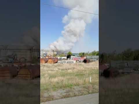 В Омске горит свалка третий день! Сегодня Ядовитый дым накрыл всех Омичей 16.05.2019.