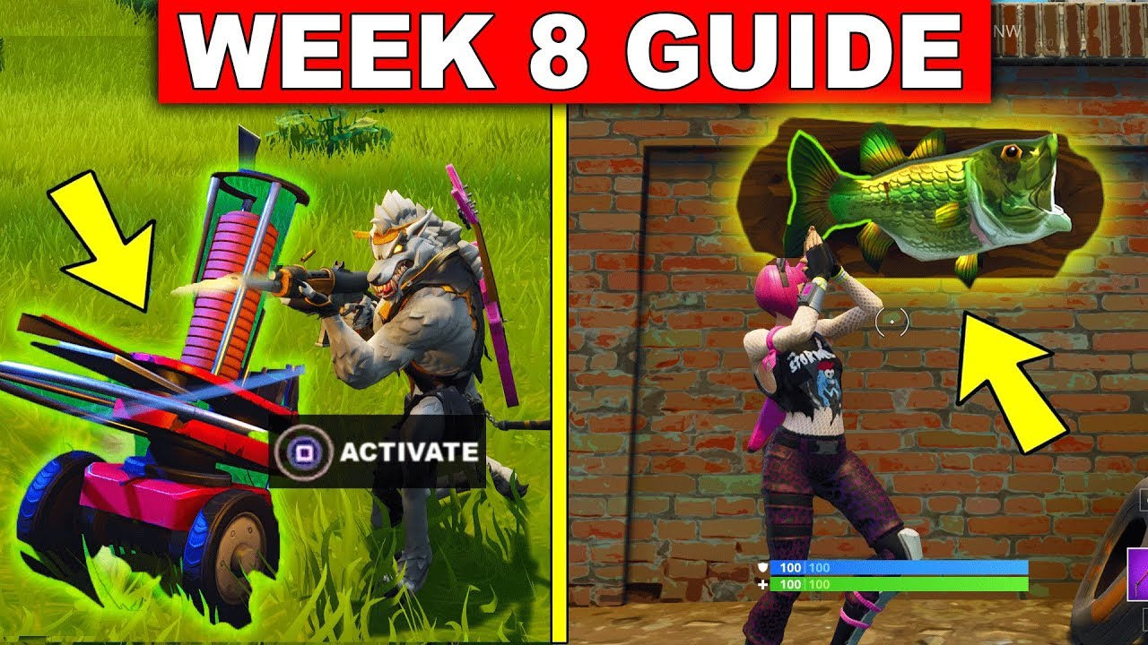 Fortnite Week 8 Challenges Guide Dance With A Fish Trophy