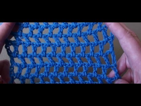 Crochet Mesh Stitch by Crochet Hooks You - YouTube