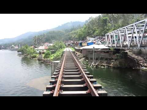 INDAHNYA JEMBATAN DI HULU BATANG OMBILIN DANAU SINGKARAK | Jalur Kereta Api Padang Panjang - Solok