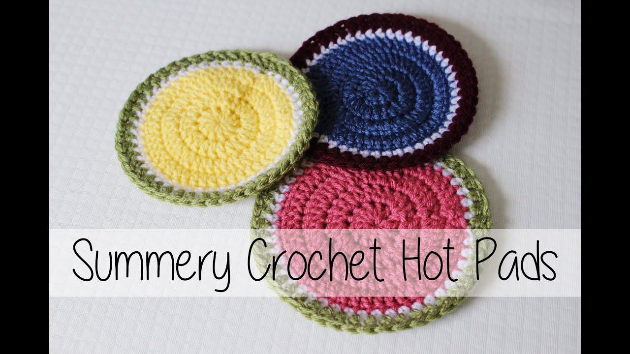 Summery Crochet Hot Pads | Beginner Friendly! | Sewrella - YouTube