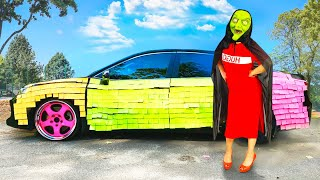 Happy Diana colored car for Harmful Witch