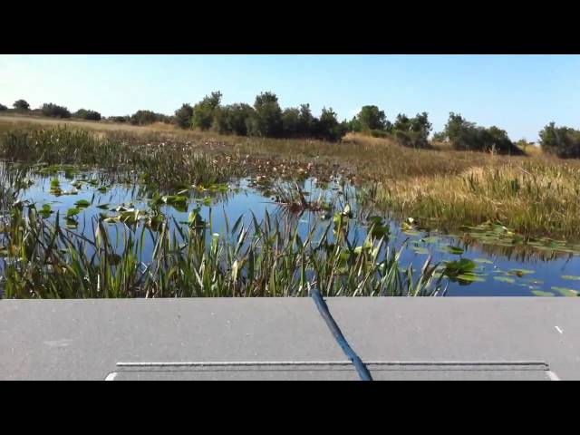 17ft AGI Airboat by Alumitech - Test Run By Shawn Emert On East Lake
