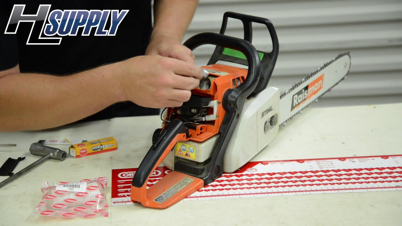 How To Replace A Spark Plug And Air Filter In Chainsaw