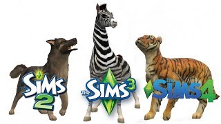 ♦ Sims 2 vs Sims 3 vs Sims 4 : Create A Pet