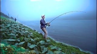 CRAZY Hurricane Fishing Action On The Cape Cod Canal!! -- (Striper Mayhem D.2)
