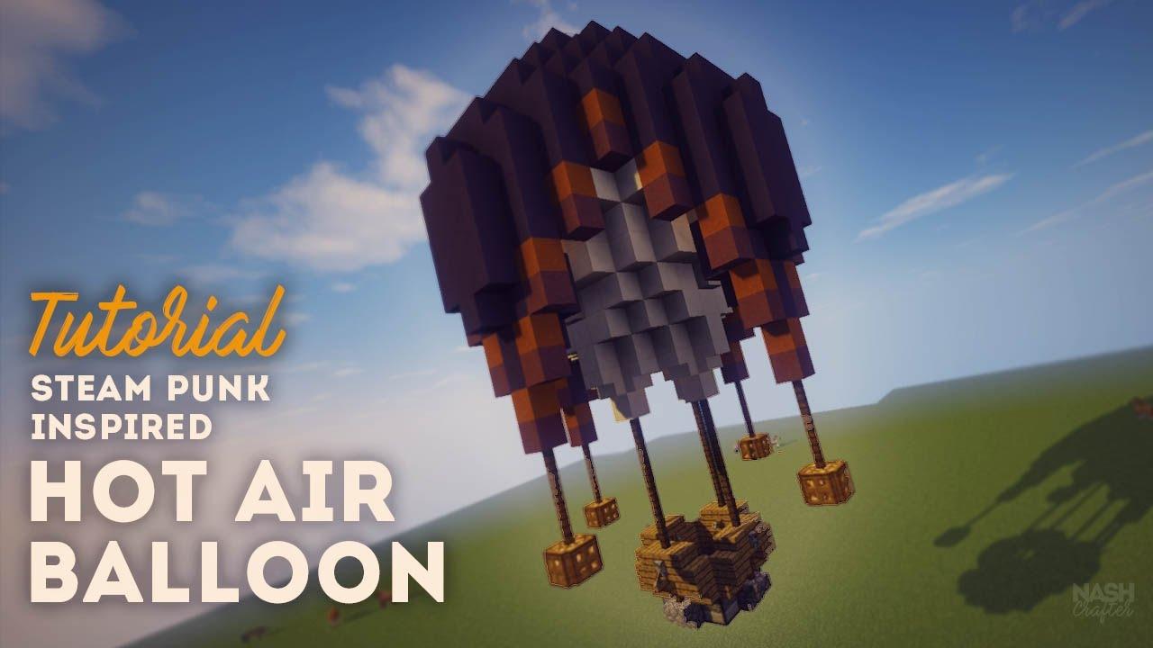 Build A Hot Air Balloon Minecraft