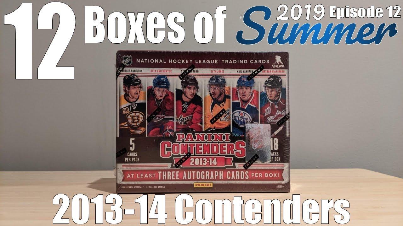 12 Boxes Of Summer Day #12 | 2013-14 Panini Contenders Hockey Hobby Box Break! MOJO?