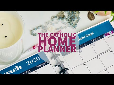 Look inside my Catholic Planner and stickers!