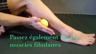 Comment soulager une douleur de la jambe avec une balle ?