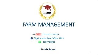 FARM MANAGEMENT (Agri Economics) for AFO, NABARD, RRB