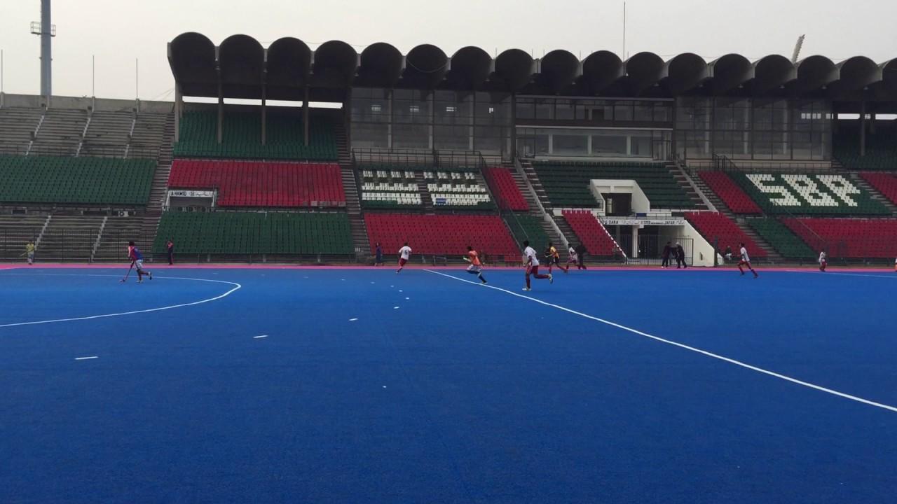 crescent hockey academy vs dar hockey acadmy match in NHS lahore 1st match