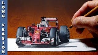 Long Version Ferrari Formula 1, 3D Trick Art on Paper