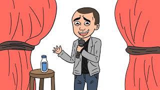 Stand up comedy raditya Dika versi animasi