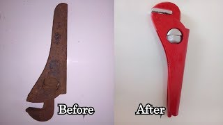 Rusty old PIPE Wrench Restoration