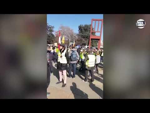 GILET JAUNE Manifestation devant l'ONU à Genève