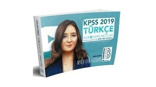 Benim Hocam  Yayınları - 2019 KPSS Türkçe Video Ders Notları - Öznur Saat Yıldırım
