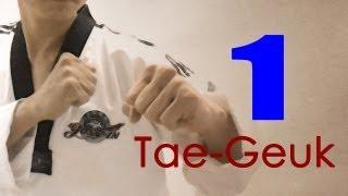 WTF Taekwondo poomsae Taegeuk 1 Jhang (taekwonwoo) 태극 1장