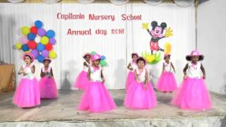 Chinna Chinna Aasai song dance, Capitanio Nursery School, Annual Day 2016