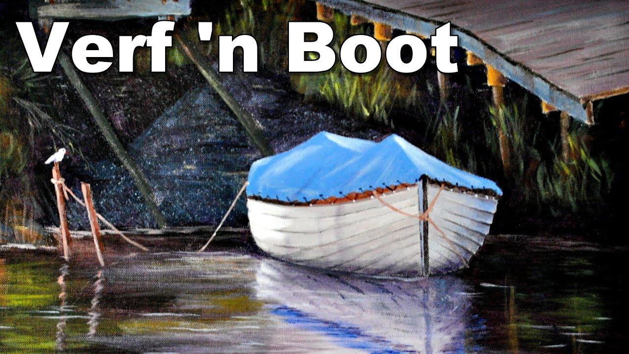 Hoe om n boot te skilder in akriel blou verf klas youtube - Hoe te krijgen roze in verf ...