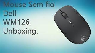 Mouse sem fio Dell WM126 Unboxing (PT) (BR)