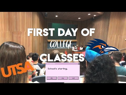 COLLEGE VLOG: FIRST DAY OF CLASS | University of Texas at San Antonio