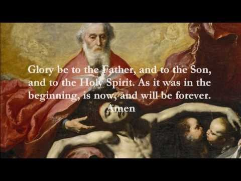 Catholic Prayers - Glory be to the Father, English
