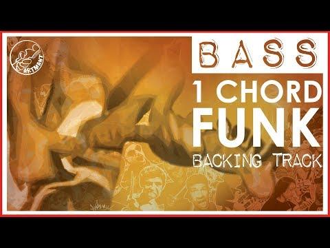 Bass Backing Track    One Chord Funk in B