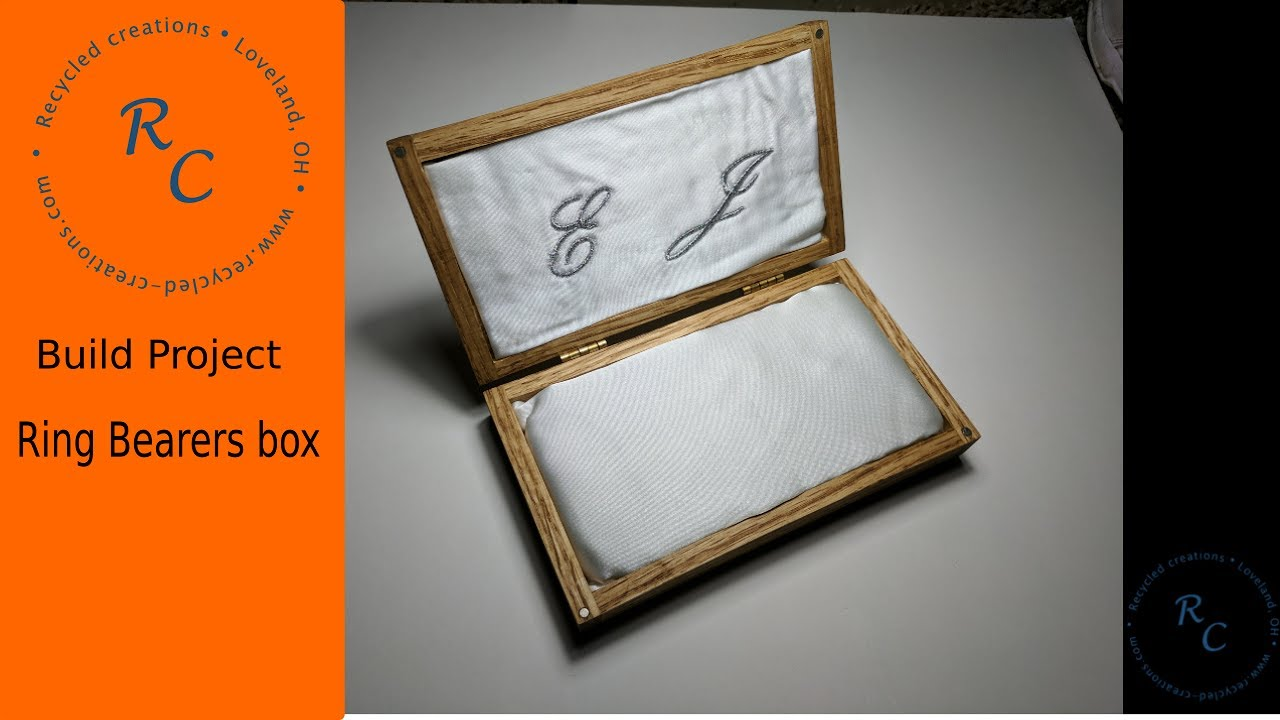 How to make a ring bearers box youtube for How to build a ring box