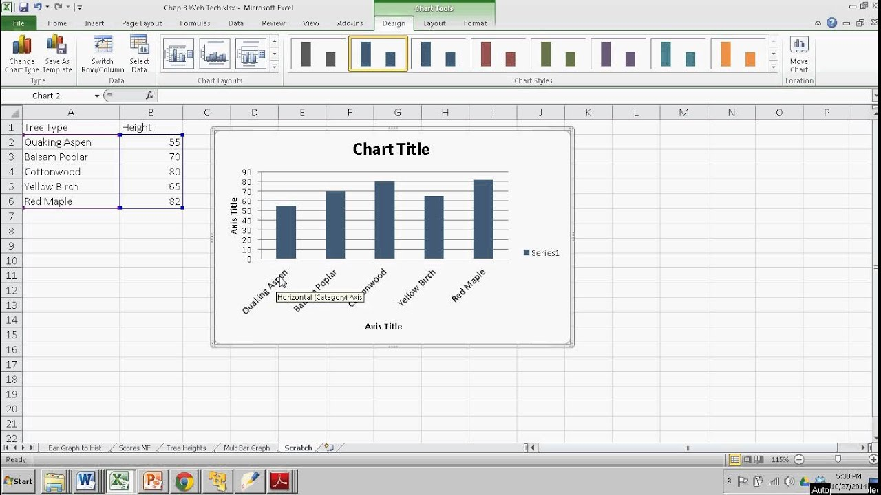 Making a Simple Bar Graph in Excel - YouTube