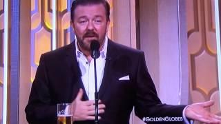 Ricky Gervais Mel Gibson Golden Globes 2016