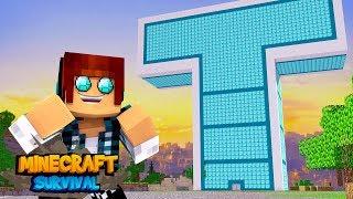 Minecraft Survival #14 - TORRE DOS JOVENS TITÃS DE DIAMANTE !!