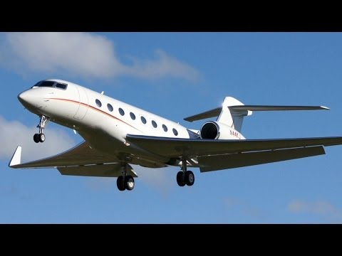 Gulfstream G650  - Circling Approach and Landing at Airport Bern-Belp