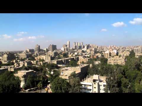 Maadi, Cairo, Panoramic from my roof (English VoiceOver)