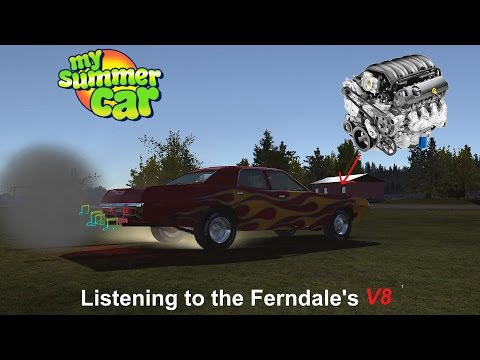 Listening to the Ferndale's V8 | My Summer Car