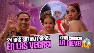 24 HORAS SIENDO PAPÁS REALES EN LAS VEGAS 🤩 Jukilop | Kimberly Loaiza