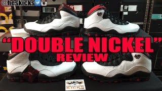 "Air Jordan 10 ""Double Nickel"" Chicago X Comparison & On Feet"