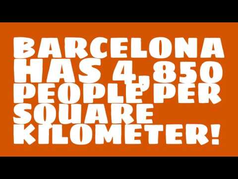 What is the land area of Barcelona?